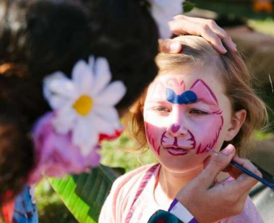 Face Painting at Fundraiser for a Farmer Beach Hotel Byron