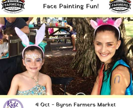 Face Painting Fun at Bangalow Farmers Market