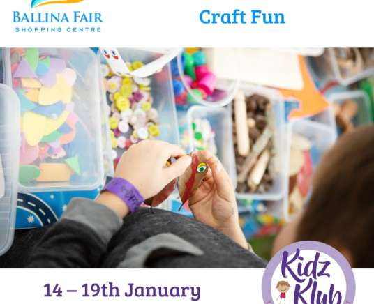 Ballina Fair – Back to School Craft with KidzKlub!
